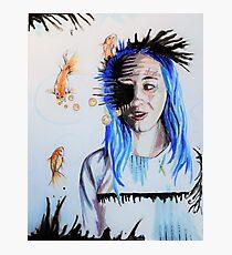 Aquamarine: Maybe it's Genetic Photographic Print