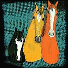 The Three Amigos - Fun Horse Design by Ginny Luttrell