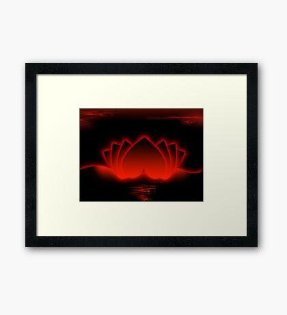 Red Love Lotus Framed Print