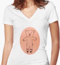 Teddy Bear - Ourson - Martin Boisvert T-shirt col V femme