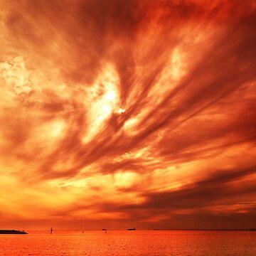 Golden Sunset, Brighton beach by rozmcq