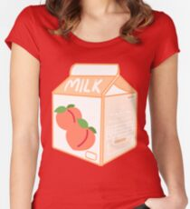 Peachy milk Women's Fitted Scoop T-Shirt