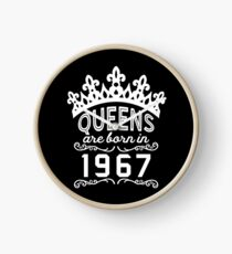 Birthday Girl Shirt - Queens Are Born In 1967 Clock