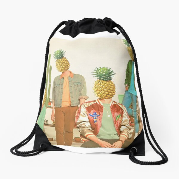 Pineapples Are My Head Drawstring Bag
