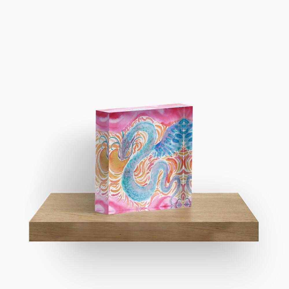 Sky Dragon Acrylic Block