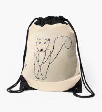 Squirrel - Écureuil - Martin Boisvert Drawstring Bag