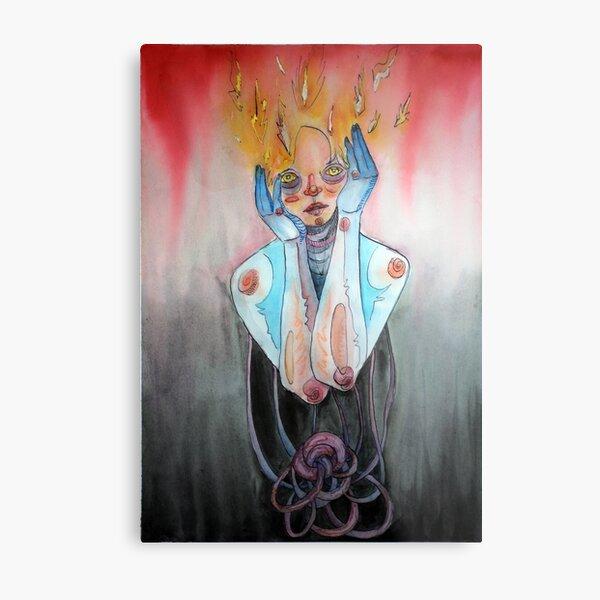 Fire Mind Metal Print