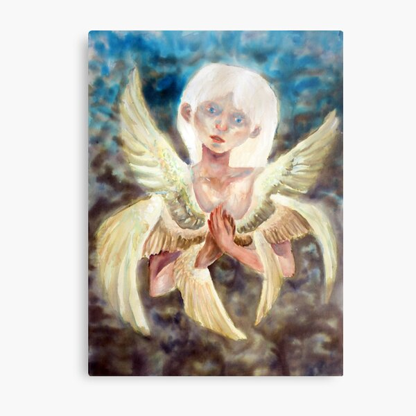 The bird of my heart is trying to get out Metal Print