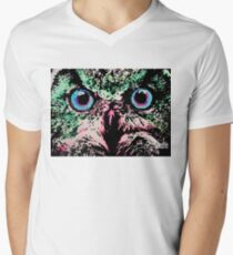 Owl by Oddly Artistic  Men's V-Neck T-Shirt