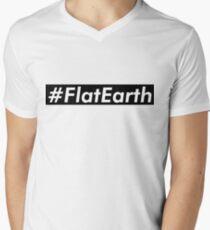 Flat Earth Supreme Box Logo Parody Men's V-Neck T-Shirt