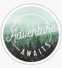 Pegatina La aventura espera
