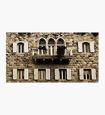 Lebanese Façade Photographic Print