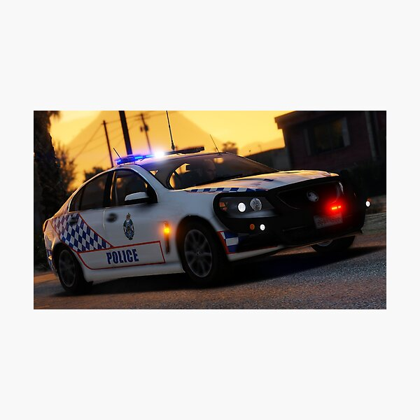 QPS Holden Commodore At Sunset Photographic Print