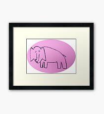 Éléphant - Martin Boisvert Framed Print