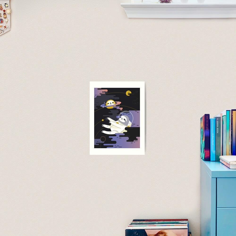 Planet Sloth Art Print