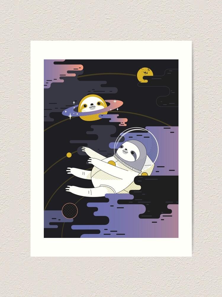 Alternate view of Planet Sloth Art Print