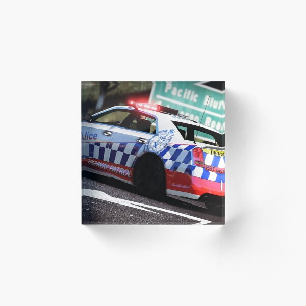 NSW Highway Patrol 300C Acrylic Block