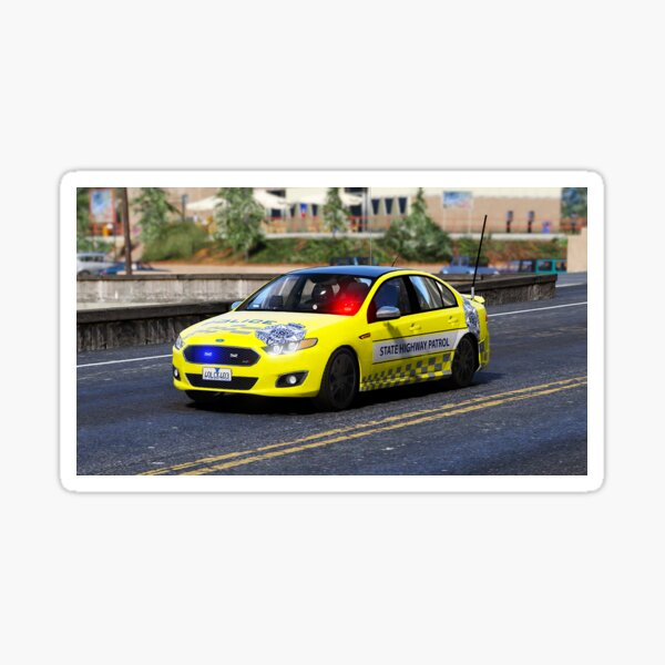 VICPOL Yellow State Highway Patrol Sticker