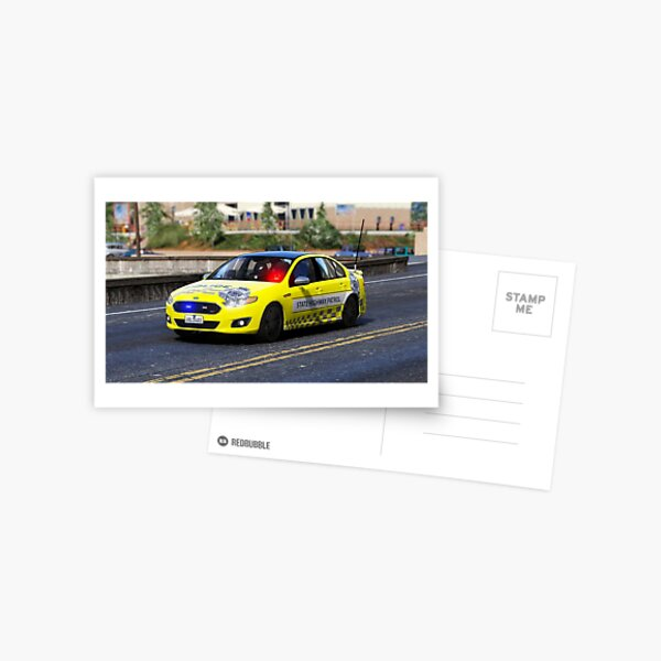 VICPOL Yellow State Highway Patrol Postcard