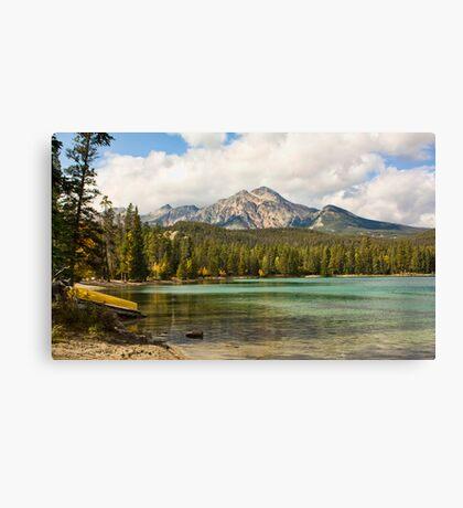 Lake Edith, Jasper Canvas Print