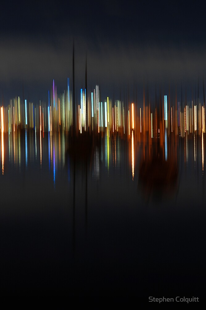 Harbour abstract by Stephen Colquitt