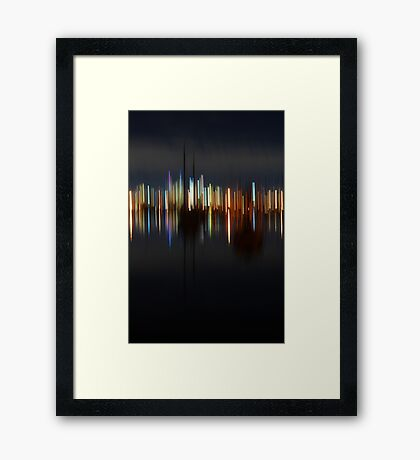 Harbour abstract Framed Print