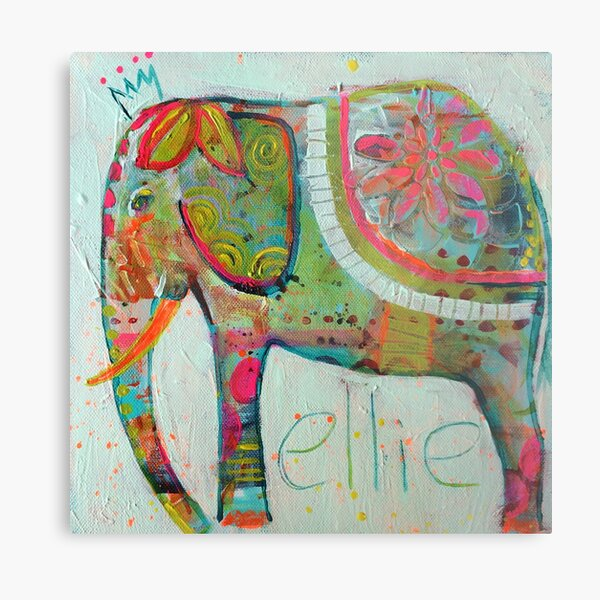 Abstract Elephant painting Metal Print