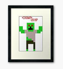 *CHOMP* A Zombie! Framed Print