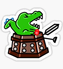 Exterminate! Dinosaur Sticker