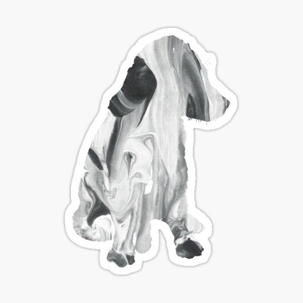Kelpie Silhouette Marble Style Sticker