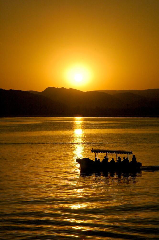 Sunset in Udaipur, India by Rowan Herring