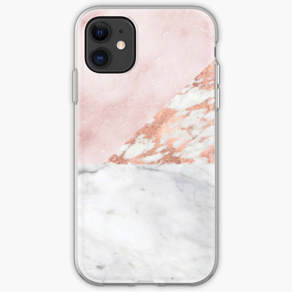 Mixed pinks rose gold marble iPhone Case & Cover