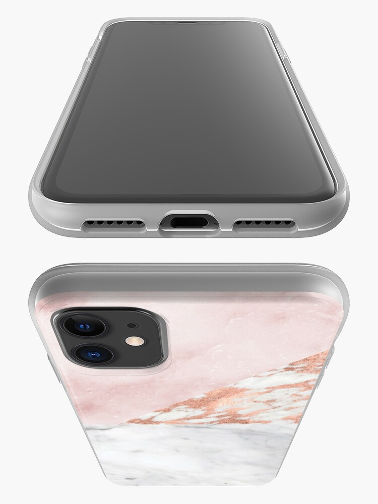 Alternate view of Mixed pinks rose gold marble iPhone Case & Cover