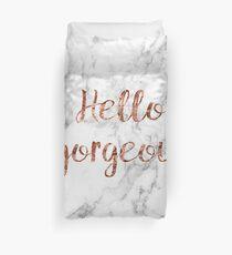 Hallo wunderschön - Rose Gold Marmor Bettbezug