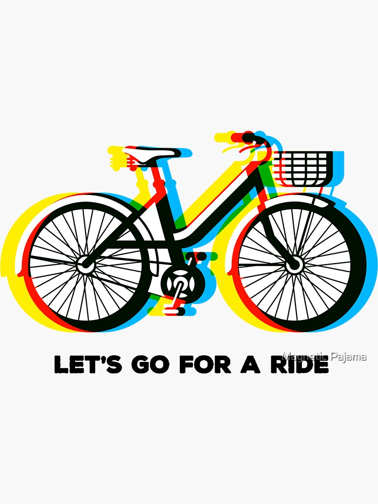 Let's Go for a Ride - Psychedelic Trippy Bicycle by MagneticMama