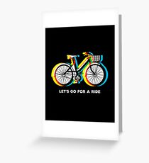 Let's Go for a Ride - Psychedelic Trippy Bicycle Greeting Card