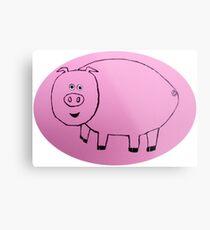 Pig - Cochon - Martin Boisvert Metal Print