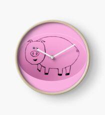 Pig - Cochon - Martin Boisvert Clock
