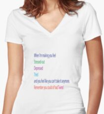 Baby says. Women's Fitted V-Neck T-Shirt