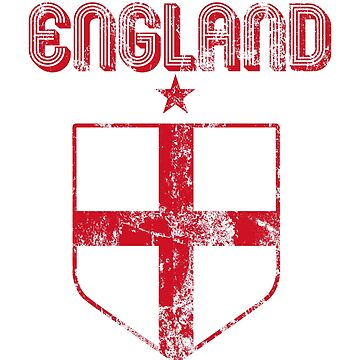 England Jersey Shirt World Cup English Football by 7United