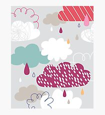 Rain and clouds art Photographic Print