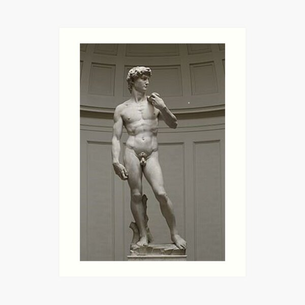 David by Michelangelo #David #Michelangelo #DavidbyMichelangelo #masterpiece Renaissance sculpture Art Print