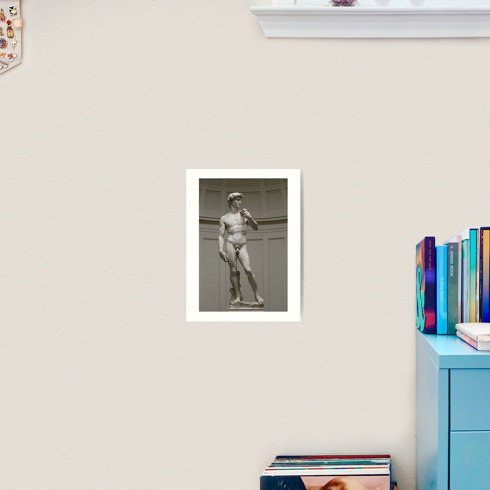 David by Michelangelo #David #Michelangelo #DavidbyMichelangelo #masterpiece Renaissance sculpture Art Print