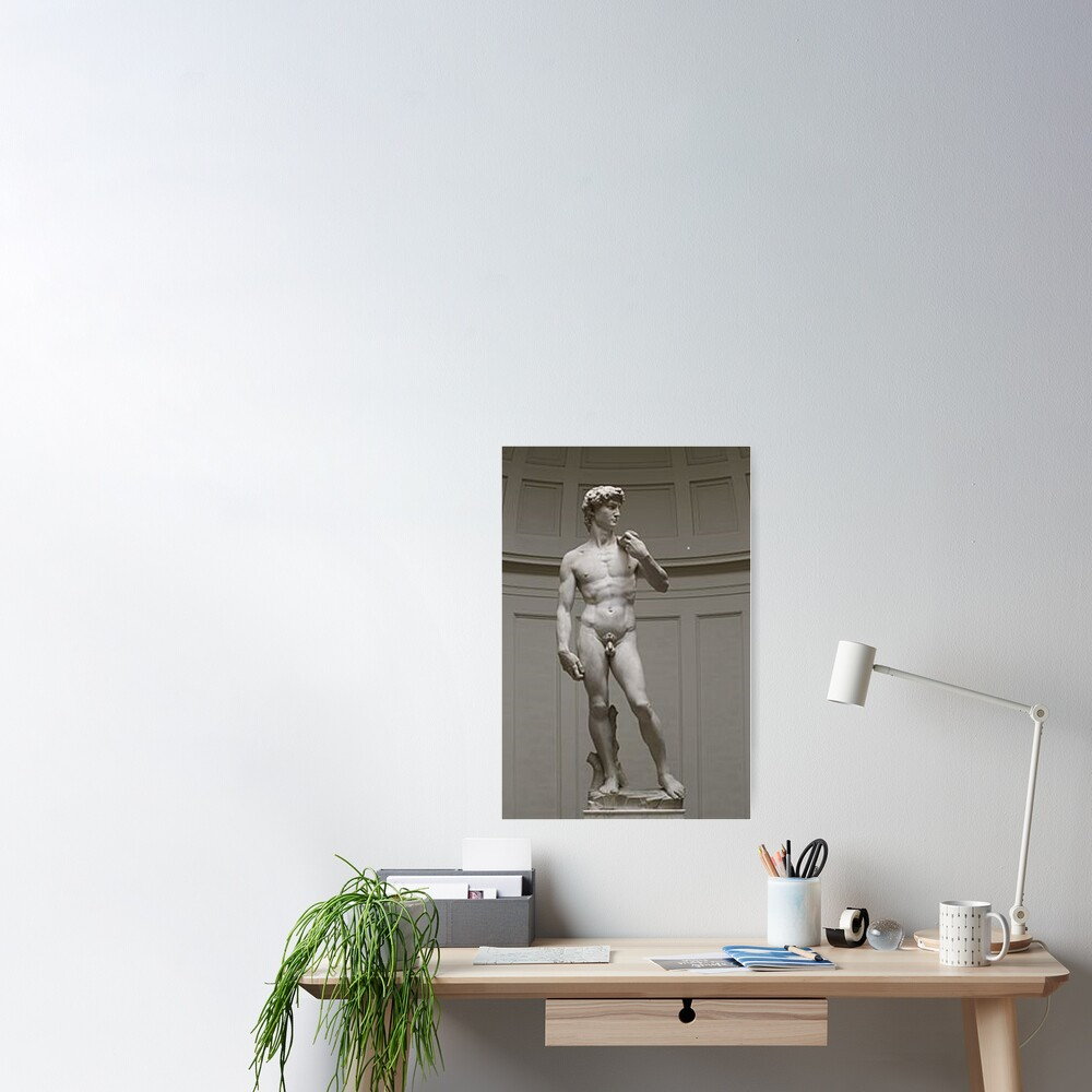 David by Michelangelo #David #Michelangelo #DavidbyMichelangelo #masterpiece Renaissance sculpture Poster