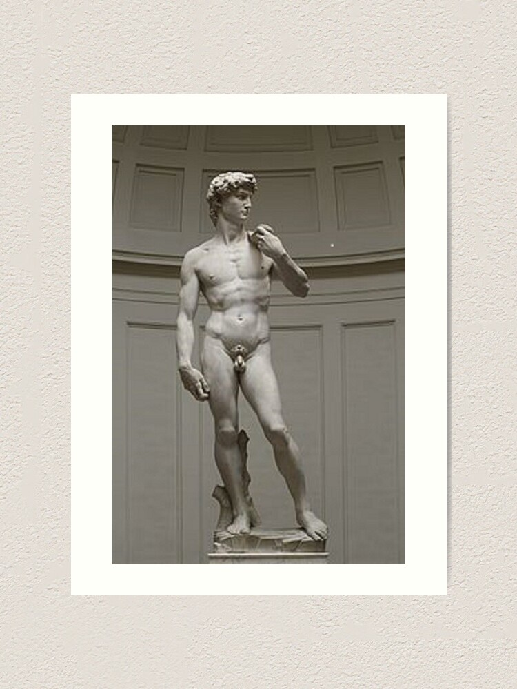 Alternate view of David by Michelangelo #David #Michelangelo #DavidbyMichelangelo #masterpiece Renaissance sculpture Art Print