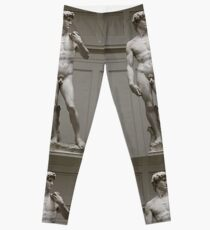 David by Michelangelo, #David, #Michelangelo, #DavidbyMichelangelo, #masterpiece, #Renaissance, #sculpture, #marble,  #statue, #standing, #male, #nude, #Biblical, #hero, #favoured, #art, #Florence Leggings