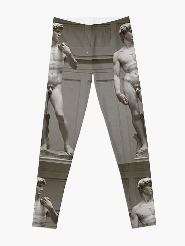 Alternate view of David by Michelangelo #David #Michelangelo #DavidbyMichelangelo #masterpiece Renaissance sculpture Leggings
