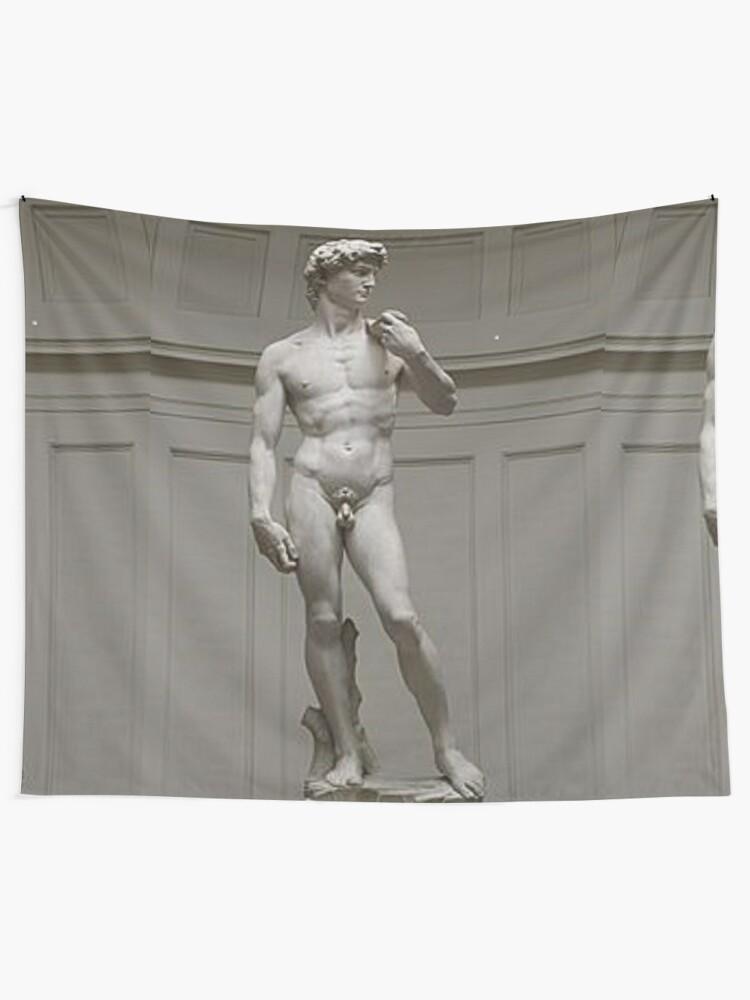 Alternate view of David by Michelangelo #David #Michelangelo #DavidbyMichelangelo #masterpiece Renaissance sculpture Tapestry