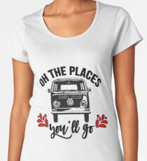 Go to the places Women's Premium T-Shirt