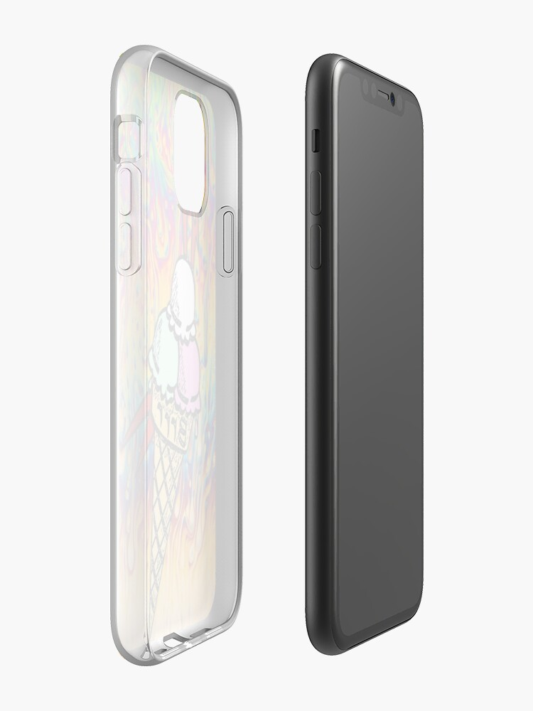 coque iphone en silicone | Coque iPhone «Brrrrrr Drippy Trippy Guwop visage cône», par thatyoungyork